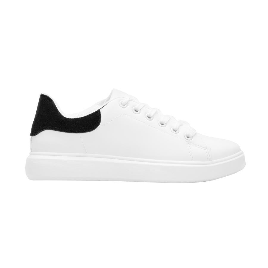 Γυναικεία sneakers μονόχρωμα Λευκό/Μαύρο