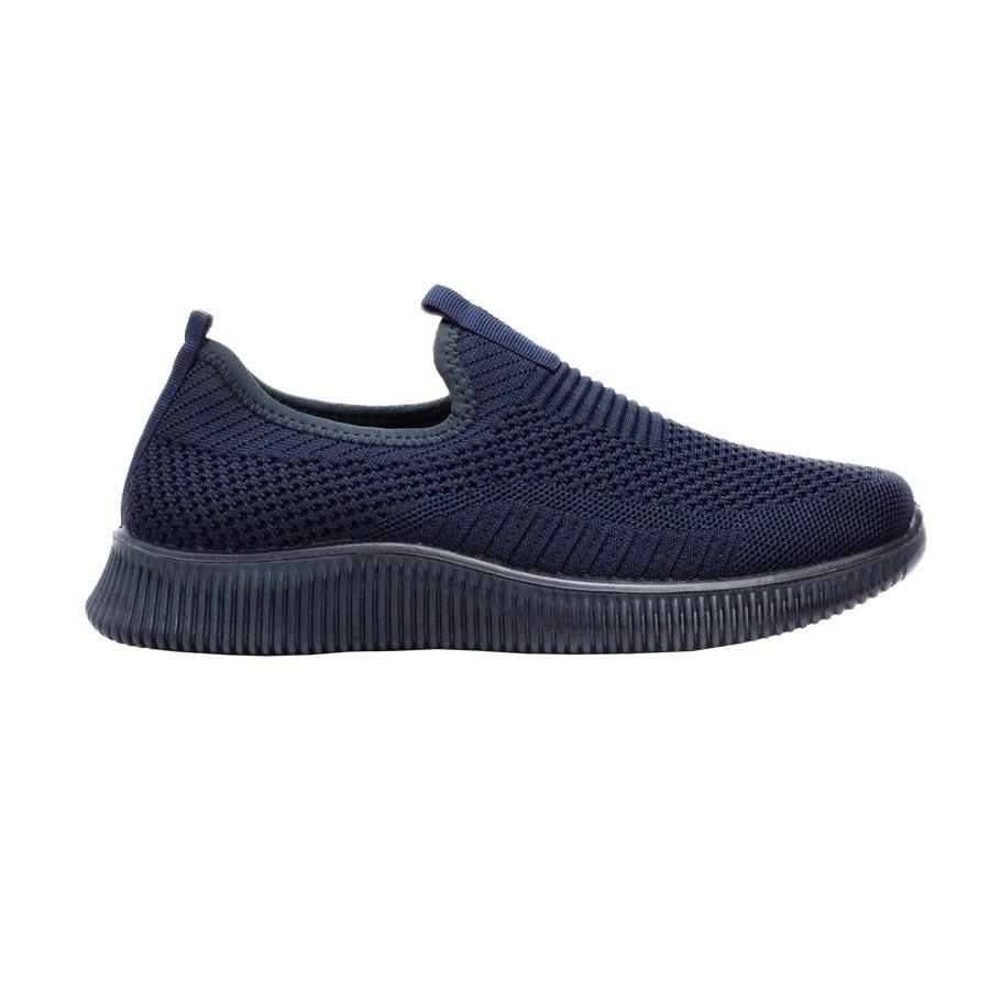 Ανδρικά sneakers υφασμάτινα ελαστικά Navy