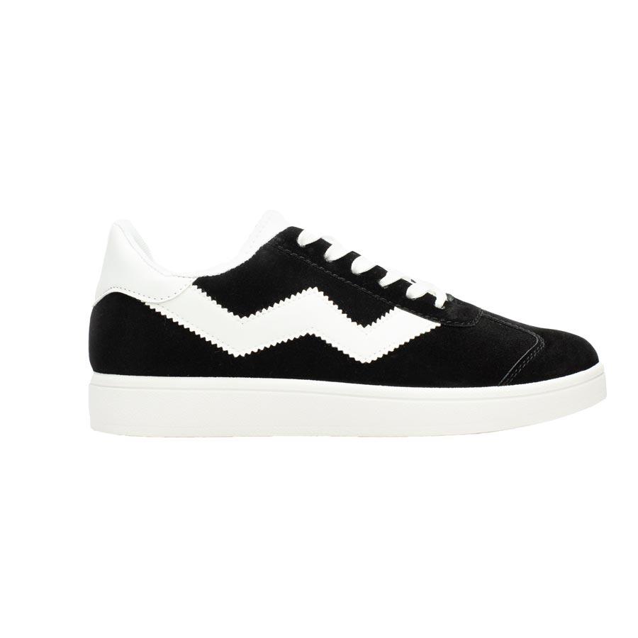 Ανδρικά sneakers με λευκή ρίγα Μαύρο