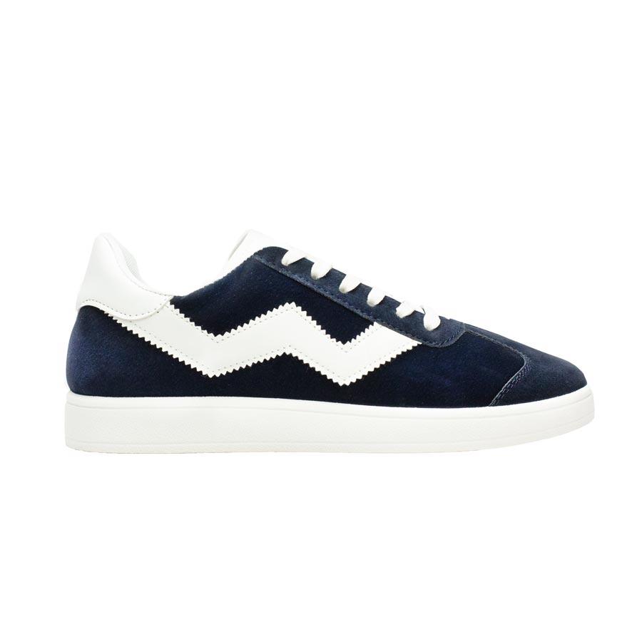 Ανδρικά sneakers με λευκή ρίγα Navy