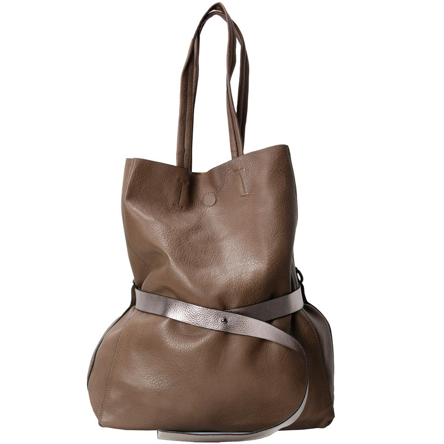 Γυναικεία τσάντα με διακοσμητική ζώνη Πούρο