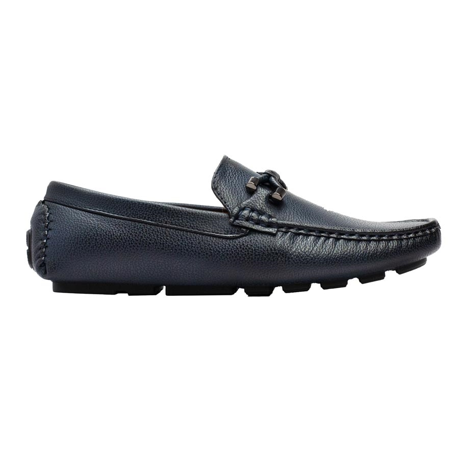 Ανδρικά loafers με μεταλλική λεπτομέρεια Navy