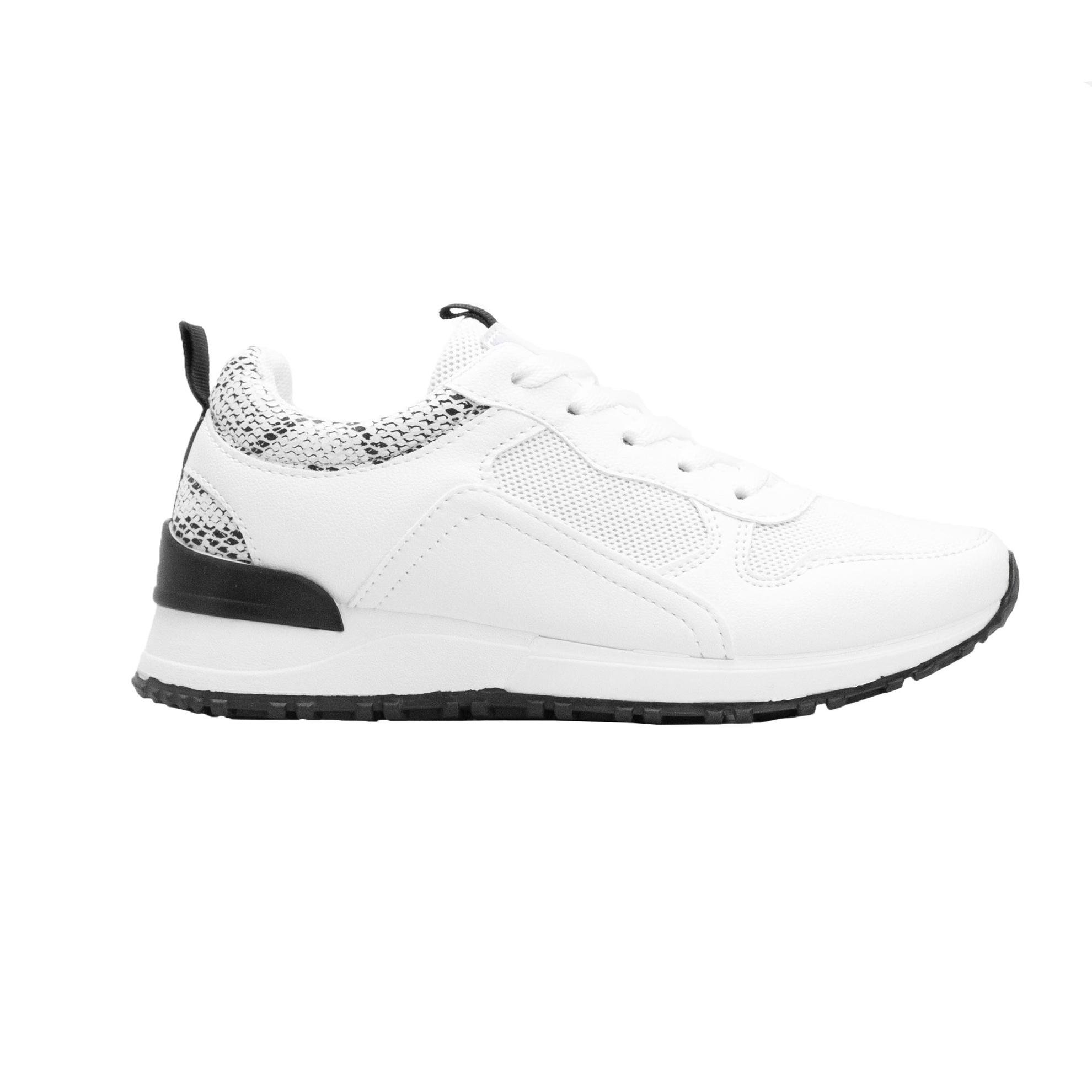 Γυναικεία sneakers με δίχρωμο σχέδιο Λευκό