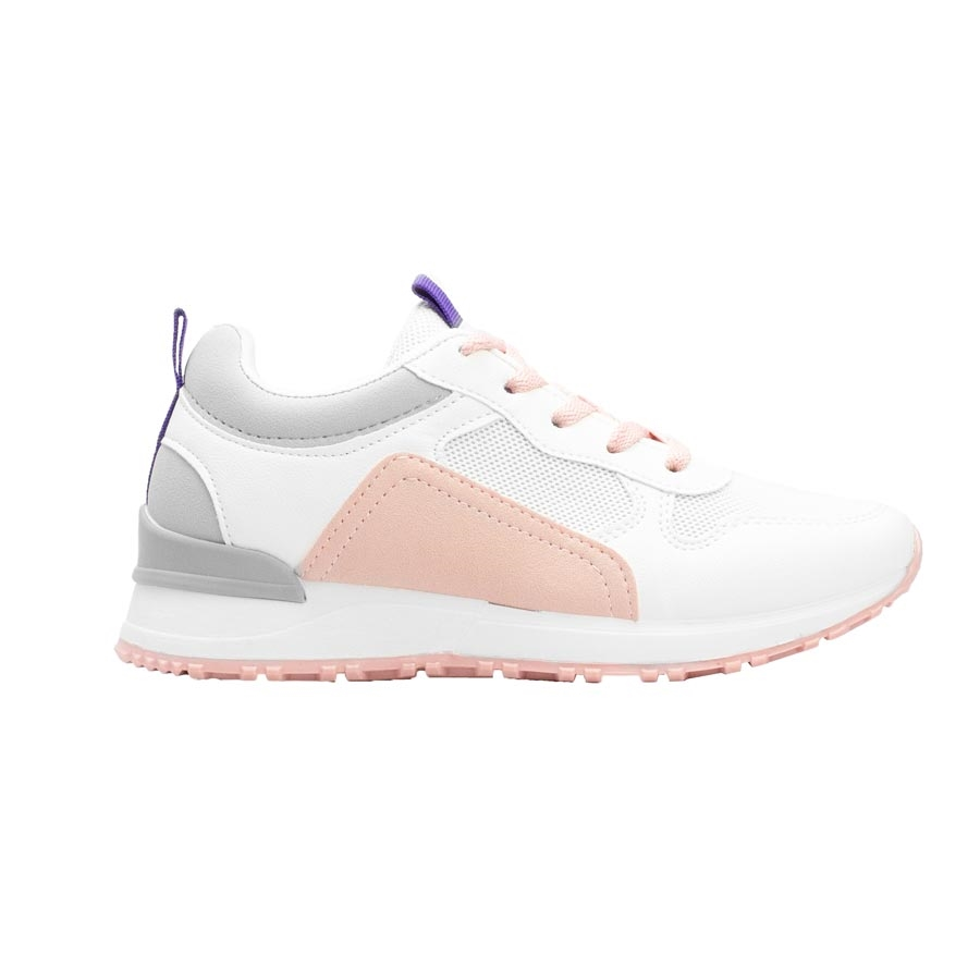 Γυναικεία sneakers με δίχρωμο σχέδιο Λευκό/Ροζ