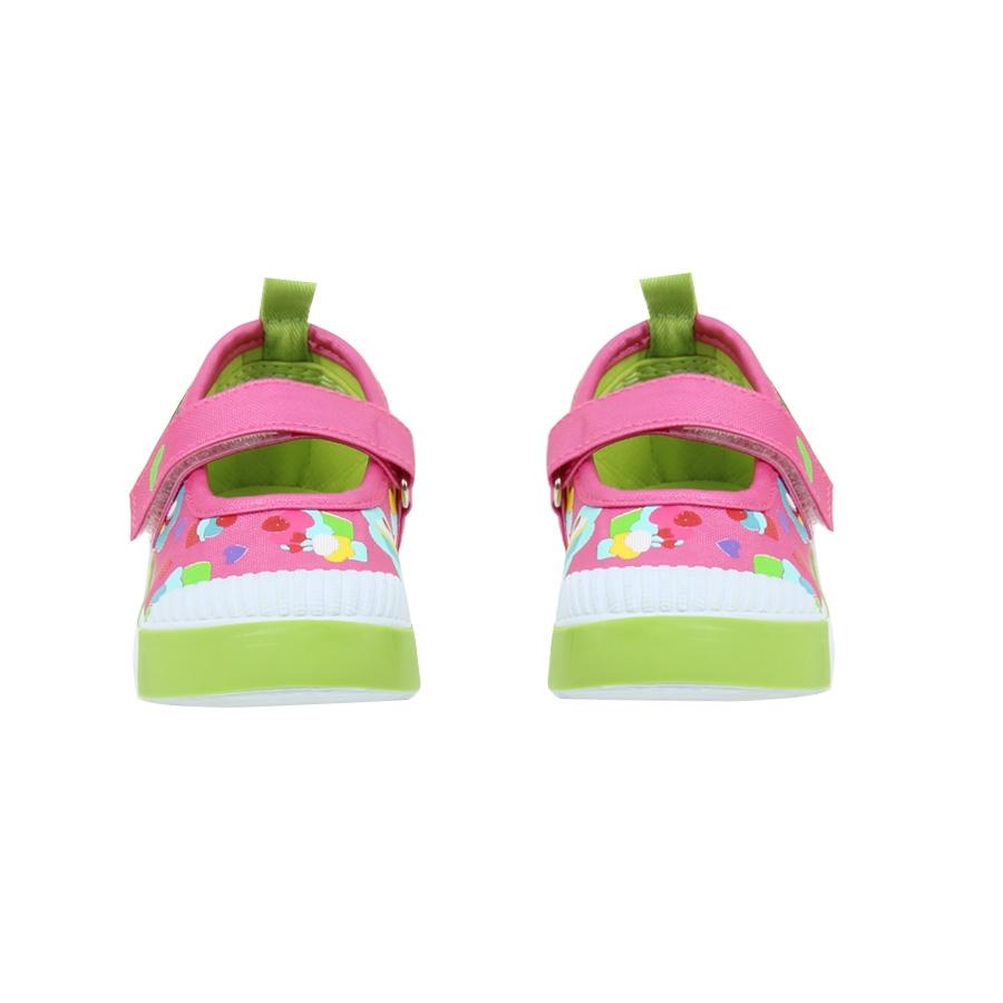 Εικόνα από Παιδικά casual με πολύχρωμες καρδούλες και μπαρέτα Φούξια