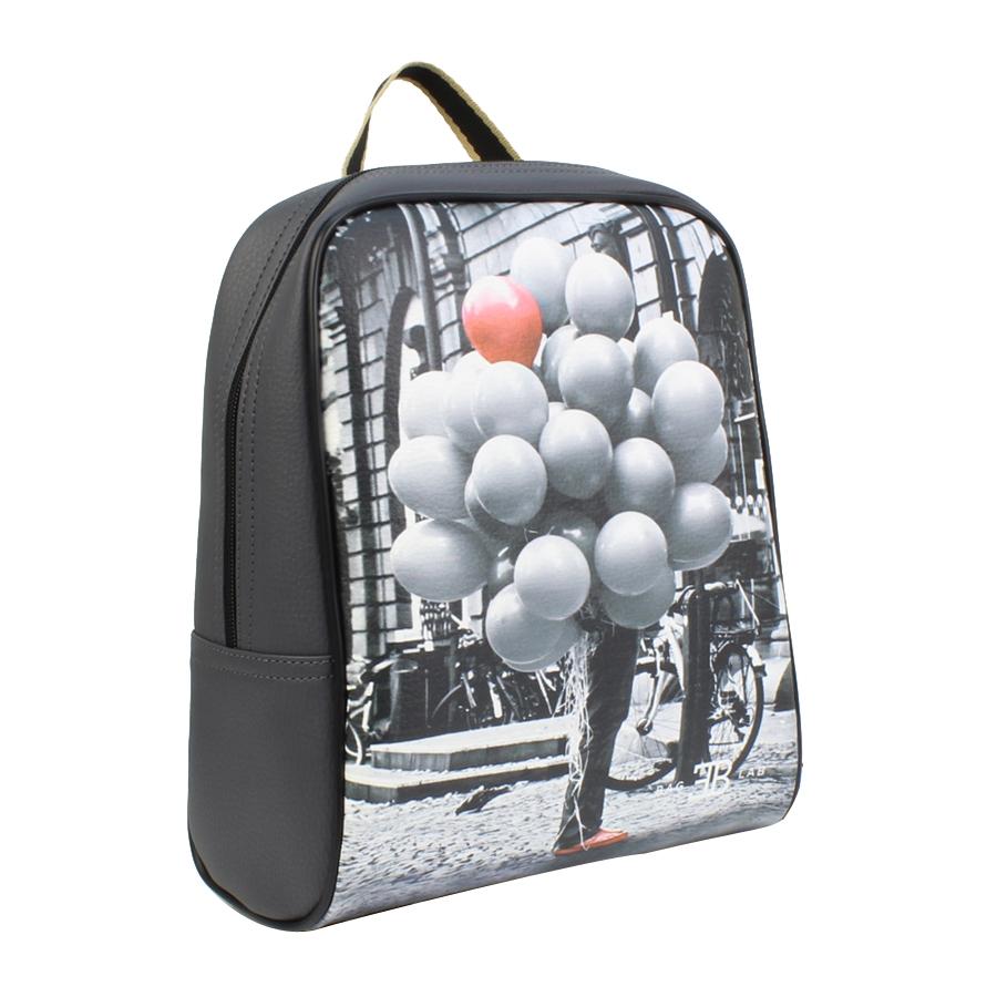 Εικόνα από Σακίδια πλάτης με print μπαλόνια Γκρι