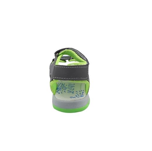 Εικόνα της Παιδικά πέδιλα δίχρωμα με τριπλό αυτοκόλλητο Γκρι