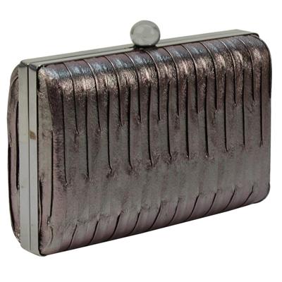 Φάκελοι clutch με κυματιστό σχέδιο Γκρι γκρι