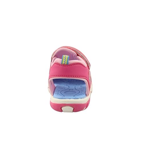 Εικόνα της Παιδικά πέδιλα ημίκλειστα με αυτοκόλλητα Φούξια