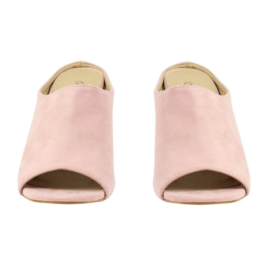 Εικόνα από Γυναικεία πέδιλα με καρέ τακούνι Ροζ