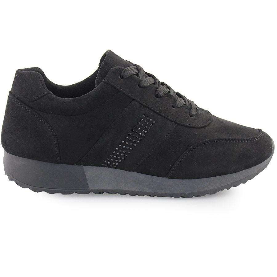 Εικόνα από Γυναικεία sneakers με strass Μαύρο 70657954aa0