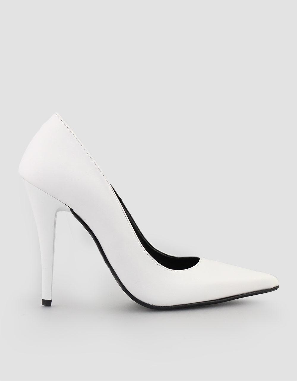 Εικόνα από Γυναικείες γόβες ψηλοτάκουνες μυτερές Λευκό