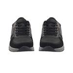 Εικόνα από Ανδρικά sneakers με jean λεπτομέρεια Μαύρο