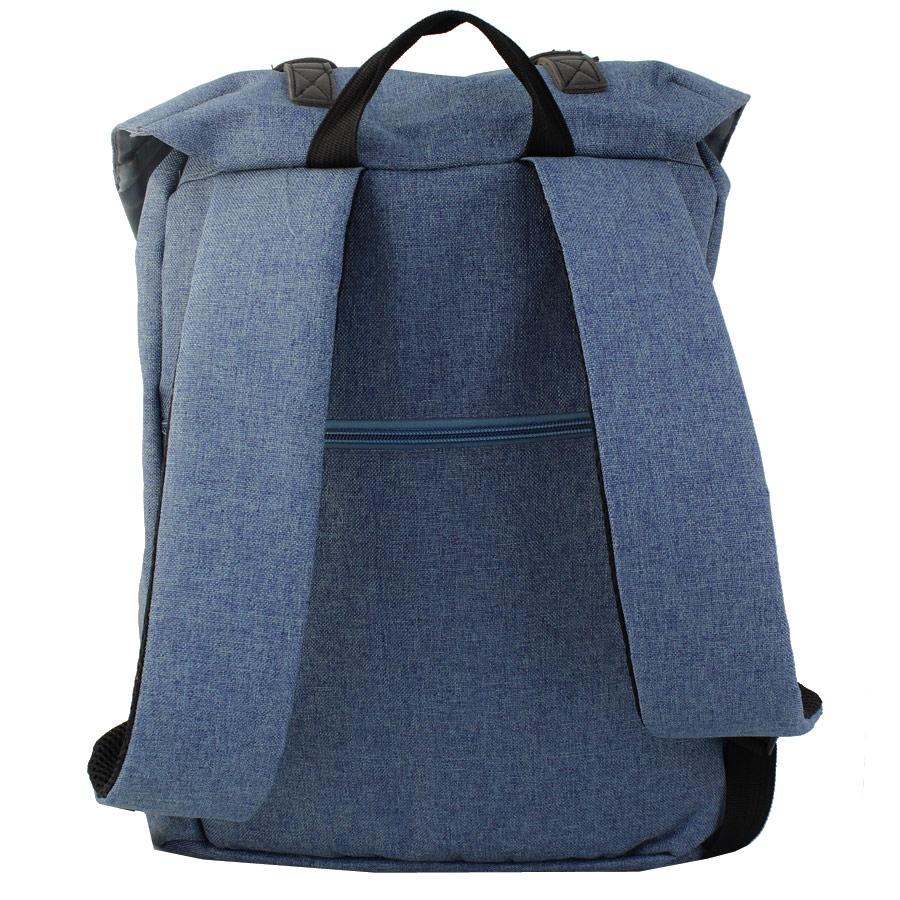 Εικόνα από Ανδρικά σακίδια πλάτης με κάθετα διπλά λουριά Μπλε