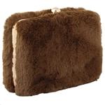 Εικόνα από Φάκελοι clutch γούνινοι μονόχρωμοι Καφέ