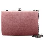 Εικόνα από Φάκελοι clutch βελούδινοι με ασημένια αλυσίδα Ροζ