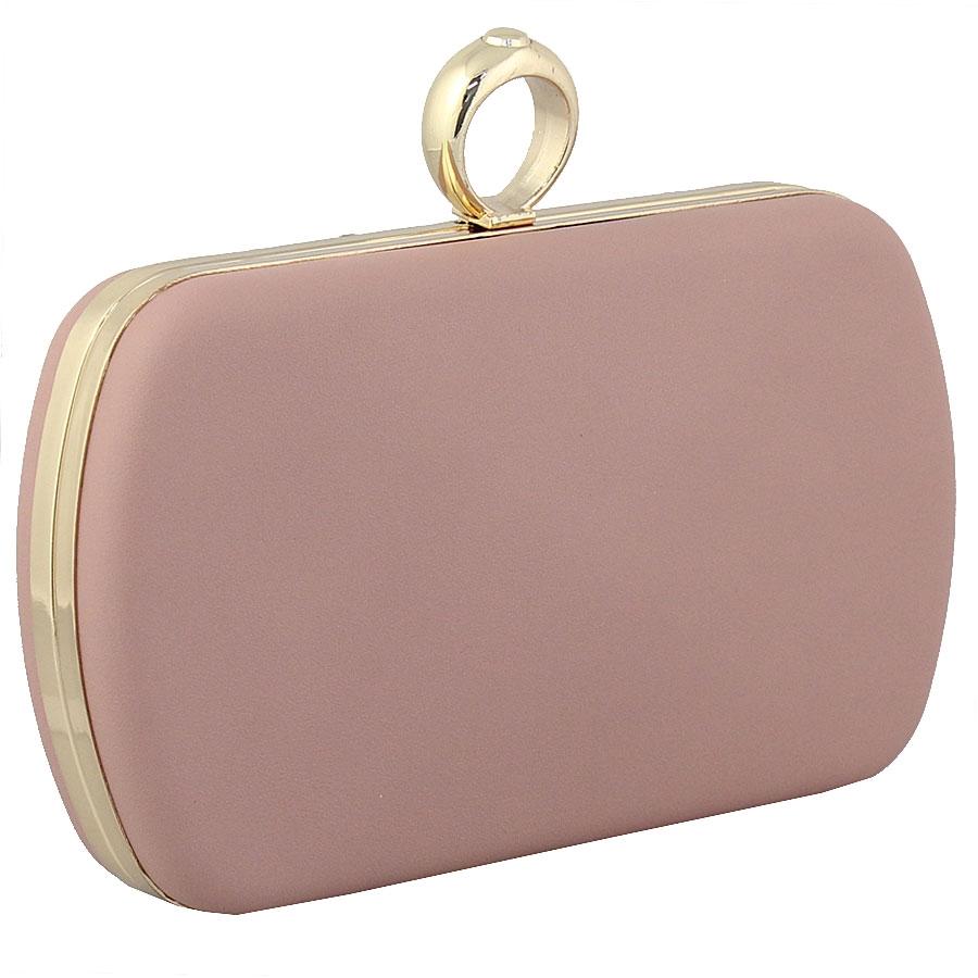 Εικόνα από Φάκελοι clutch με κυκλικό μεταλλικό κούμπωμα Ροζ