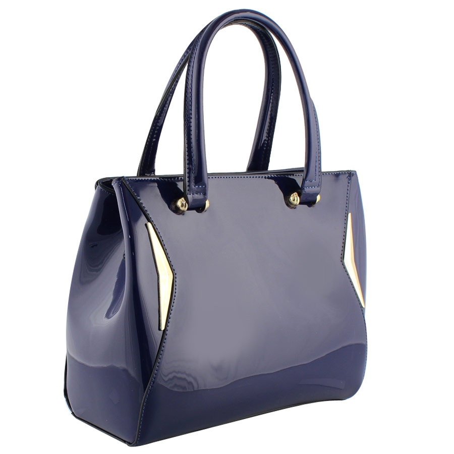 Εικόνα από Γυναικείες τσάντες χειρός λουστρίνι Μπλε 90641f1ba6e