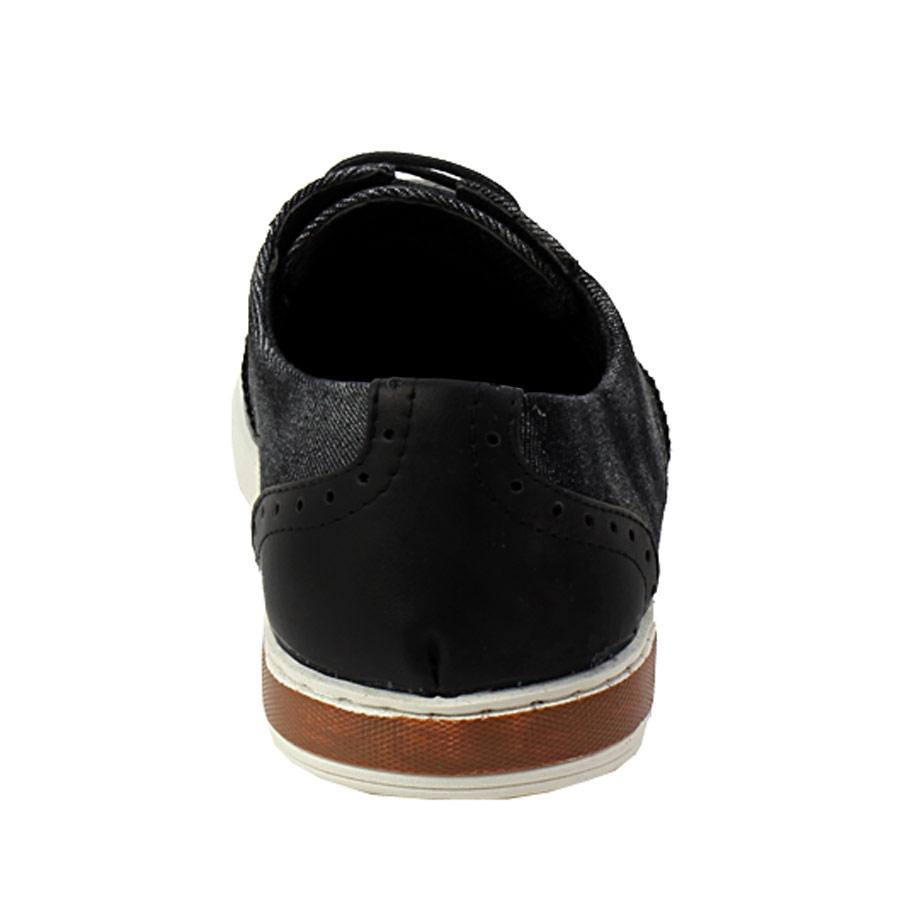 Εικόνα από Ανδρικά loafers με δίψιδο περφορέ σχέδιο Μαύρο