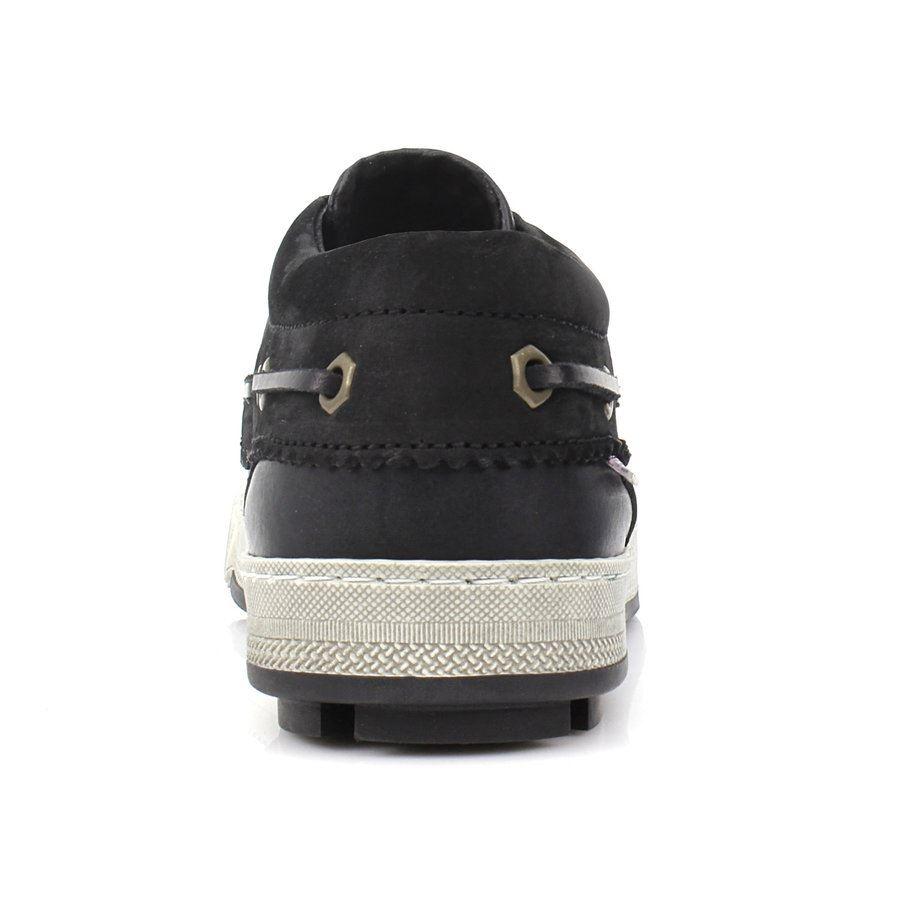 Εικόνα από Ανδρικά loafers με κορδόνια Μαύρο