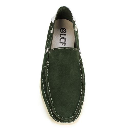 Εικόνα της Loafers δέρμα καστόρι Πράσινο