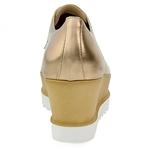 Εικόνα από Γυναικεία loafers με δίχρωμη σόλα Μπρονζέ
