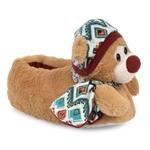 Εικόνα από Παιδικές παντόφλες με γουνάκι και αρκουδάκι Μπεζ