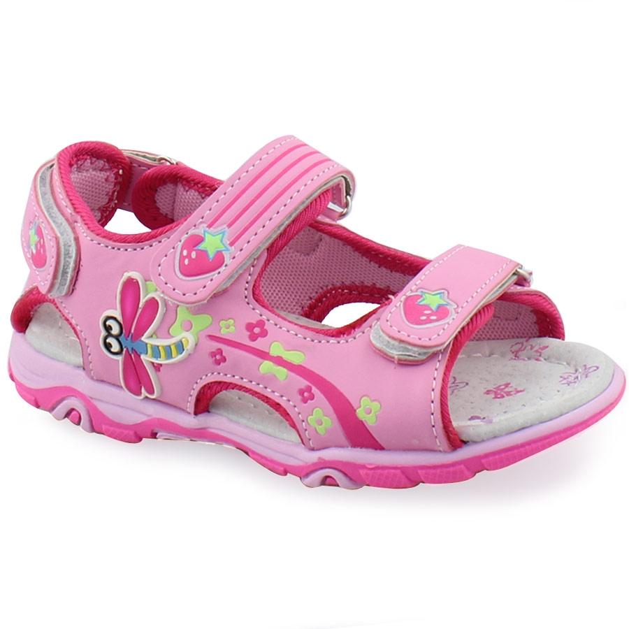 Εικόνα από Παιδικά πέδιλα με φραουλίτσες Ροζ