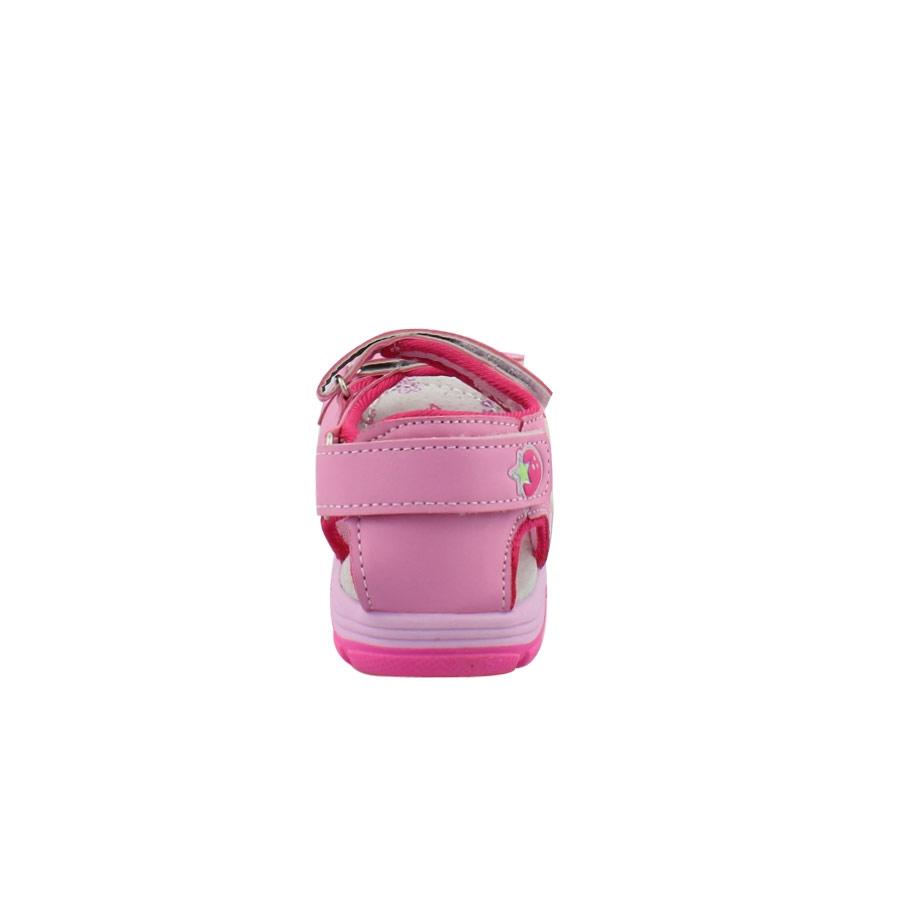 Εικόνα από Παιδικά πέδιλα με φραουλίτσες στα αυτοκόλλητα Ροζ