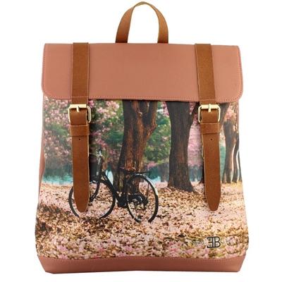 Σακίδια πλάτης με λουράκια με print bike in the forest Ταμπά ταμπά