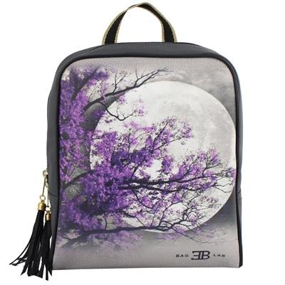 Σακίδια πλάτης με print purple tree Γκρι γκρι