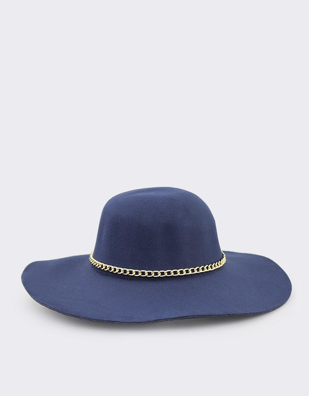 10e9760482 Εικόνα από Γυναικεία καπέλα με διακοσμητικό κρίκο Μπλε