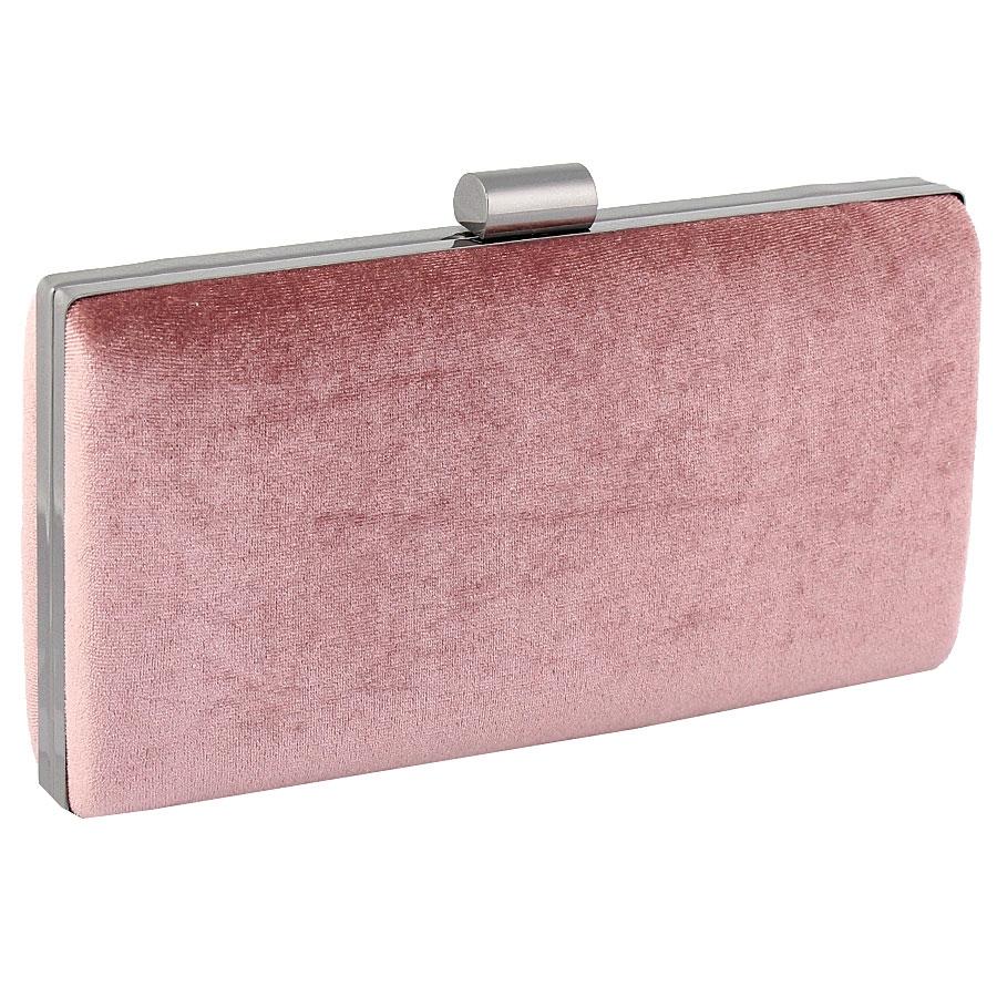 Εικόνα από Γυναικείοι φάκελοι clutch βελούδινοι μονόχρωμοι Ροζ