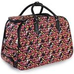Εικόνα από Τσάντες ταξιδίου με πολύχρωμα σχέδια Φούξια