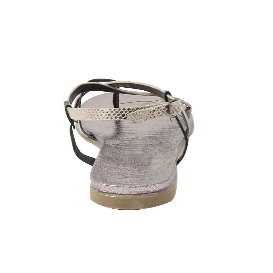 Εικόνα από Γυναικεία σανδάλια με snake skin λουράκια Μαύρο