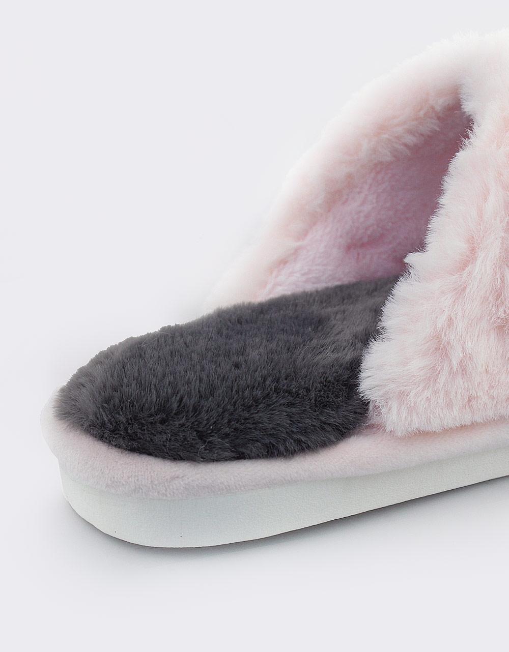 Εικόνα από Γυναικείες παντόφλες με γουνάκι Ροζ