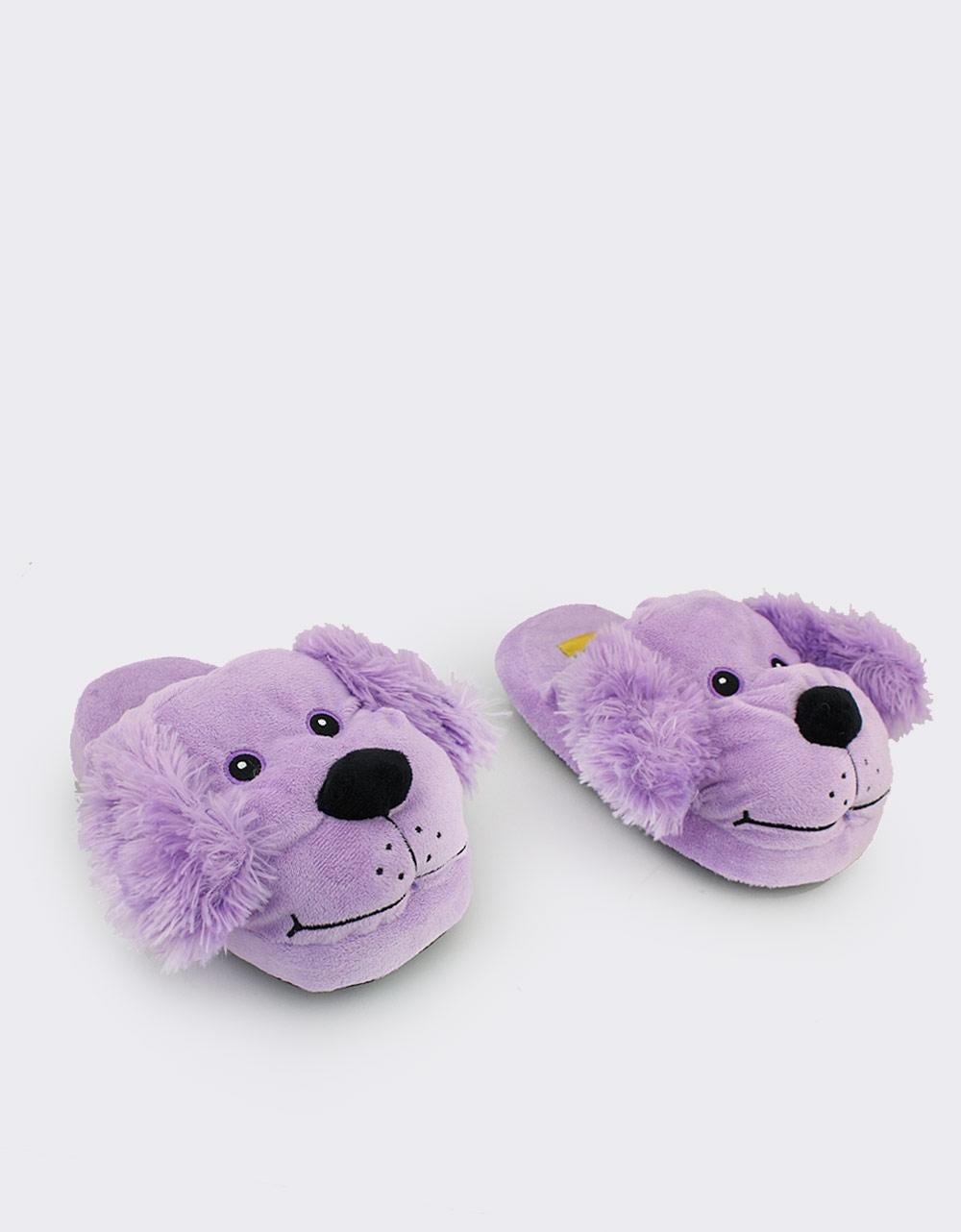 Εικόνα από Παιδικές παντόφλες με ζωάκι σκυλάκι Μωβ