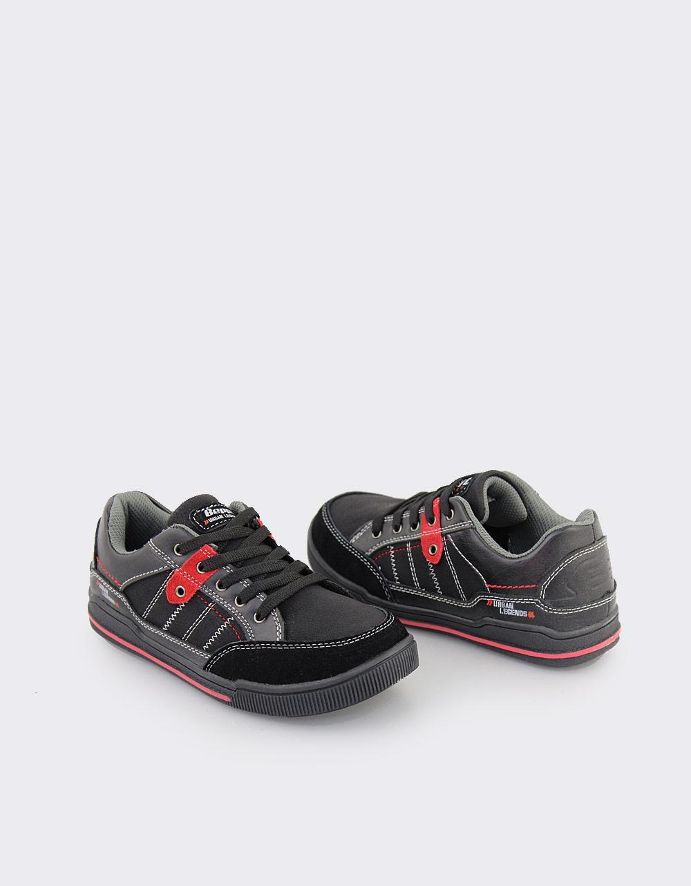Εικόνα από Παιδικά sneakers με κορδόνια και διακοσμητικά γαζιά Μαύρο