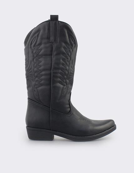 Εικόνα της Γυναικείες μπότες τύπου cowboy Μαύρο