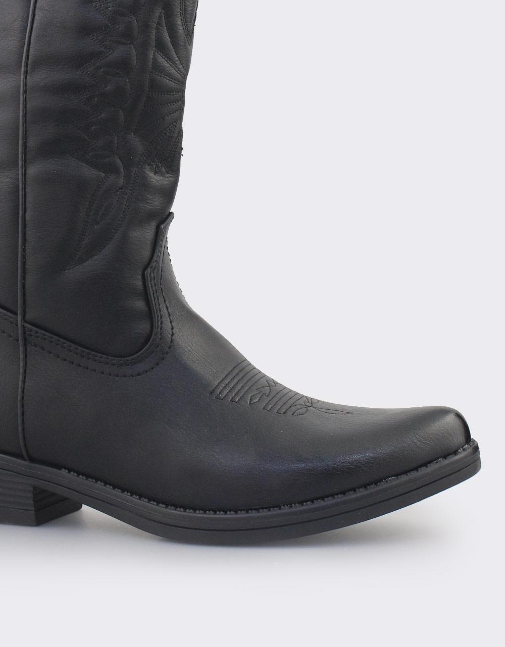 Εικόνα από Γυναικείες μπότες τύπου cowboy Μαύρο