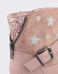 Εικόνα από Παιδικά μποτάκια με διακοσμητικά αστέρια και glitter Ροζ