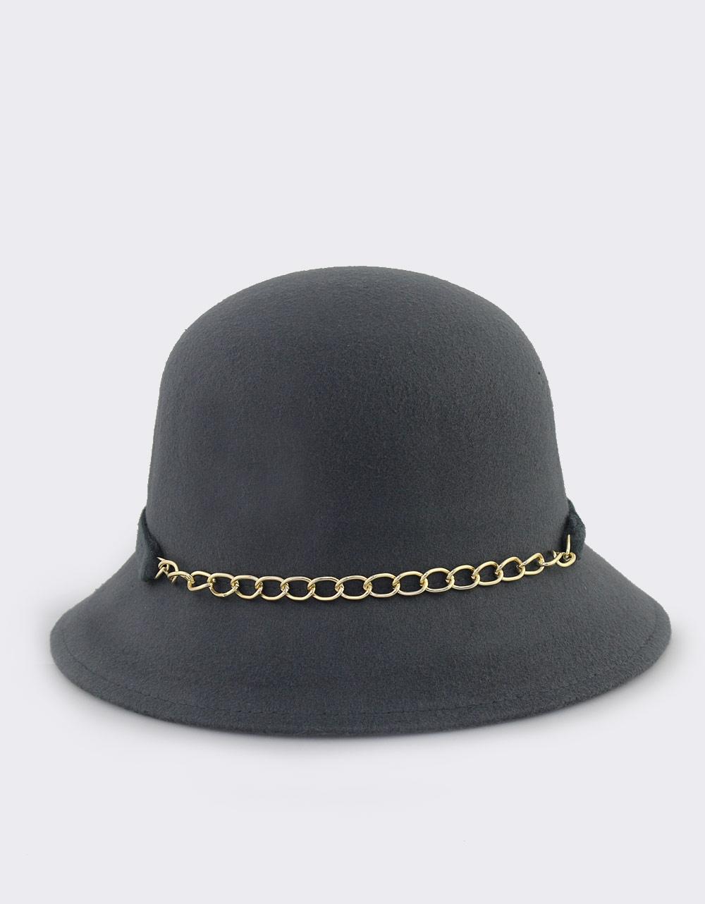 Εικόνα από Γυναικεία καπέλα με αλυσίδα και φιόγκο Γκρι