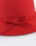 Εικόνα από Γυναικεία καπέλα με αλυσίδα και φιόγκο Κόκκινο