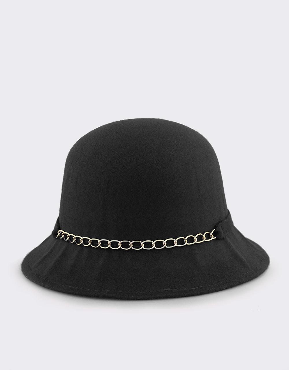 Εικόνα από Καπέλα με διακοσμητική αλυσίδα και φιόγκο Μαύρο