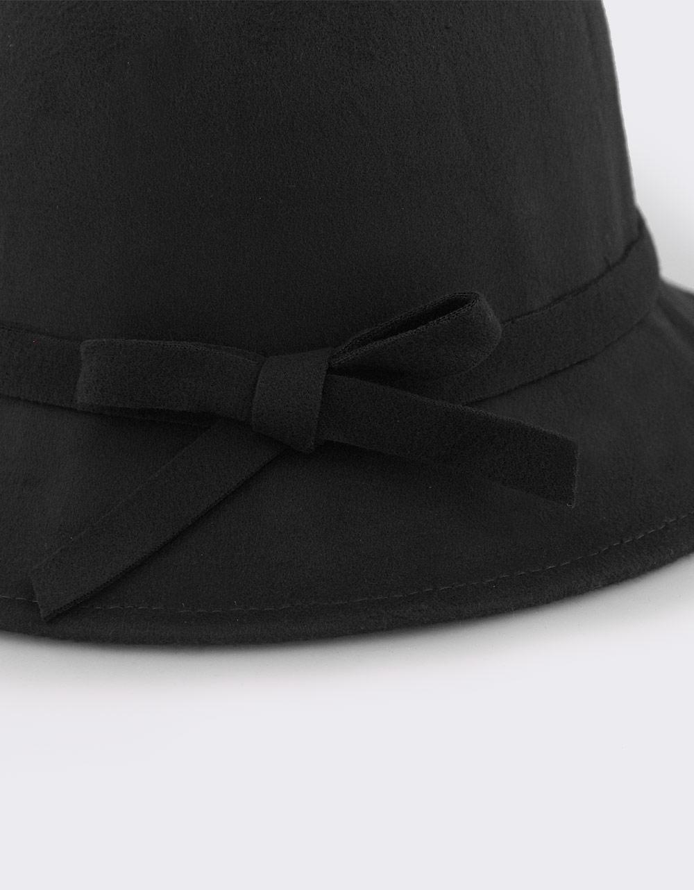Εικόνα από Γυναικεία καπέλα με αλυσίδα και φιόγκο Μαύρο