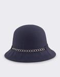 Εικόνα από Καπέλα με διακοσμητική αλυσίδα και φιόγκο Μπλε