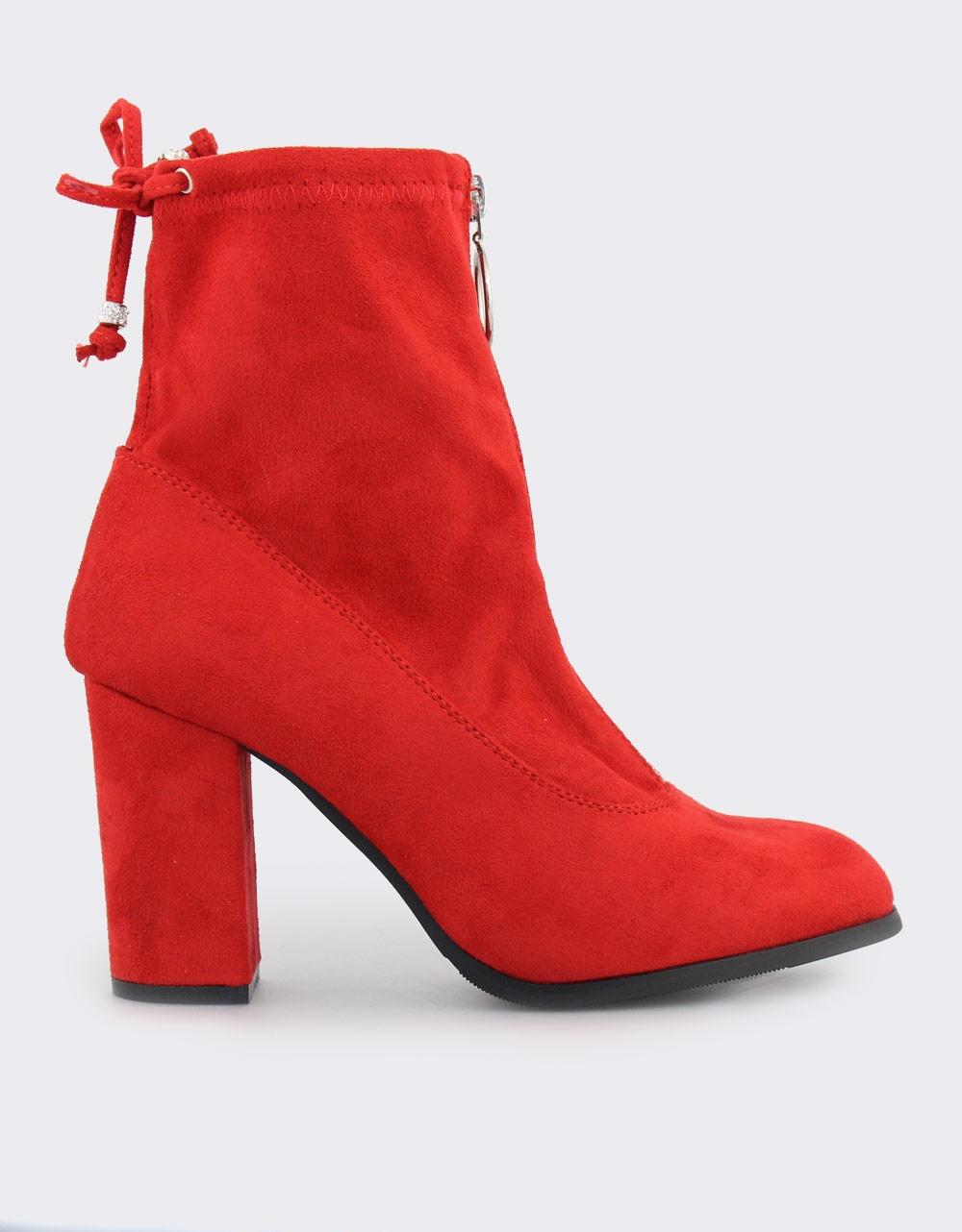 Εικόνα από Γυναικεία μποτάκια με φερμουάρ Κόκκινο 48b27b2b2af