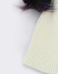 Εικόνα από Γυναικείοι σκούφοι με πολύχρωμα φουντάκια Λευκό