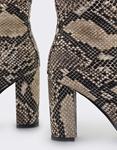 Εικόνα από Γυναικεία μποτάκια snake skin Καφέ