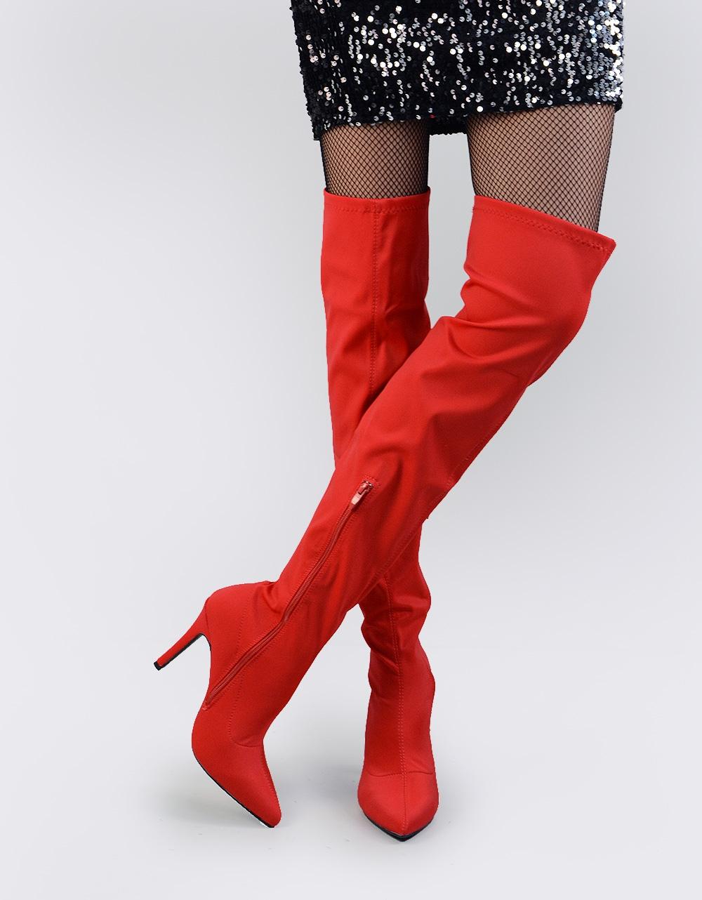 6f643d38462 Inshoes.gr. Γυναικείες μπότες τύπου κάλτσα | Inshoes.gr Κόκκινο